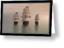 The Three Ships Greeting Card