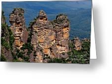 The Three Sisters Katoomba Australia Greeting Card