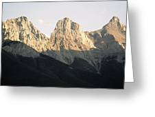 The Three Sisters Of The Rockies Greeting Card