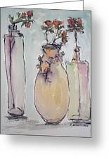 The Three Vases Greeting Card