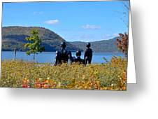 The Tides And The Hudson Greeting Card