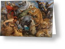 The Tiger Hunt Greeting Card