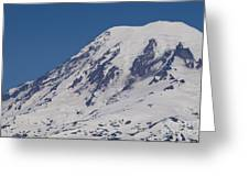 The Top Of Mount Rainier Greeting Card