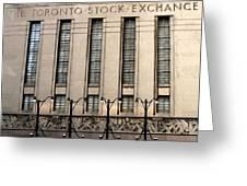 The Toronto Stock Exchange Greeting Card