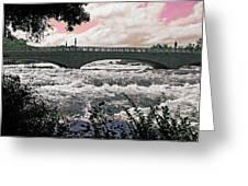 The Torrent Above Niagara Greeting Card