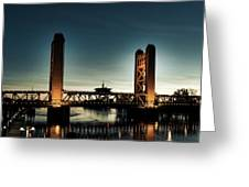 The Tower Bridge At Sunset Greeting Card