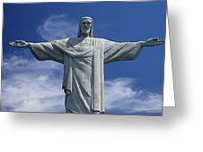 The Towering Statue Of Christ Greeting Card