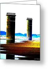 The Towers After A Storm Greeting Card