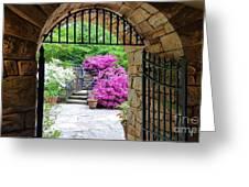 The Tower's Garden Door Greeting Card