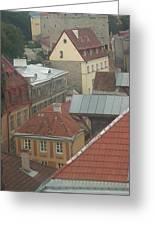 The Towers Of Old Tallinn Estonia Greeting Card