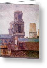 The Towers Saint Sulpice 1887 Greeting Card