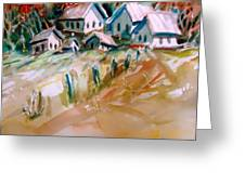 The Town On Shaky Ground Greeting Card
