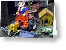 The Tractor Driver Greeting Card