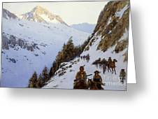 The Trail Over The Pass, 1910 Greeting Card