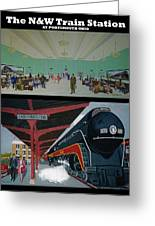 The Train Station At Portsmouth Ohio Greeting Card