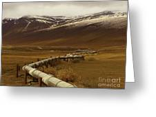 The Trans Alaska Pipeline Greeting Card
