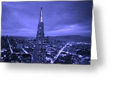 The Transamerica Pyramid At Sunset Greeting Card