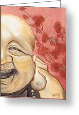 The Travelling Buddha Statue Greeting Card
