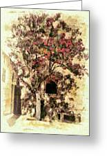 The Tree In The Corner Of The Courtyard Greeting Card
