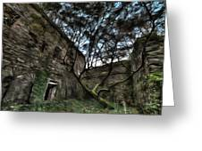 The Tree In The Fort - L'albero Tra Le Mura Del Forte Paint Greeting Card