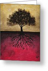 The Tree Of Life Greeting Card by Edwin Alverio