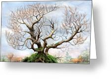 The Tree On The Top Of The Hill  Greeting Card