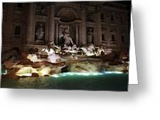 The Trevi Fountain In Rome Greeting Card