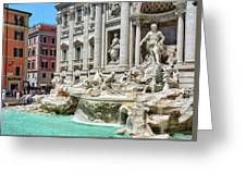 The Trevi Fountain In The City Of Rome Greeting Card