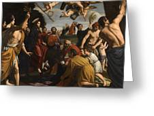 The Triumphal Entry Of Christ In Jerusalem Greeting Card