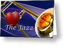 The Trombone Jazz 001 Greeting Card