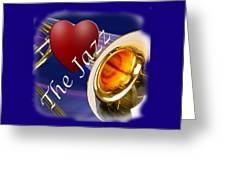 The Trombone Jazz 002 Greeting Card
