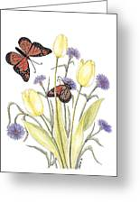 The Tulip And The Butterfly Greeting Card