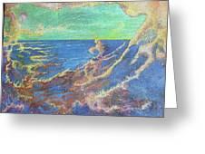 The Turbulent Sea Greeting Card