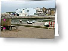 The Turner Contemporary Gallery - Margate Harbour Greeting Card