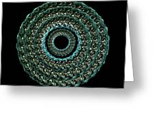 The Turqoise And Teal Infinity Of Rose Greeting Card by Jacqueline Migell