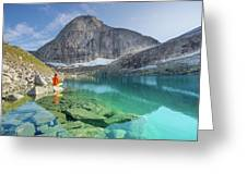 The Turquoise Lake Greeting Card