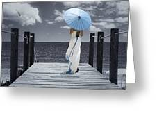 The Turquoise Parasol Greeting Card