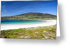 The Turquoise Water Of Dogs Bay Roundstone Ireland Greeting Card