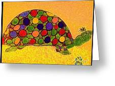 The Turtle In Lighter Colors Greeting Card