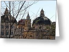 The Twin Churches Greeting Card