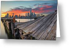 The Twisted Pier Panorama Greeting Card