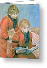 The Two Sisters Greeting Card by Pierre Auguste Renoir