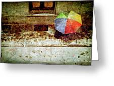 The Umbrella Greeting Card by Silvia Ganora