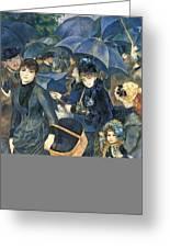 The Umbrellas Greeting Card by Pierre Auguste Renoir