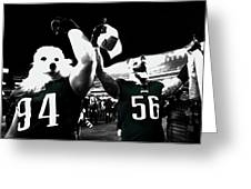 The Under Dogs Philadelphia Eagles Greeting Card