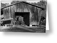 The Undertaker's Wagon Black And White 2 Greeting Card