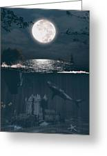 The Underwater Castle Greeting Card
