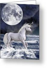 The Unicorn Under The Moon Greeting Card