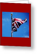 The Flag Of Great Britain Greeting Card