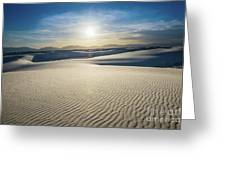 The Unique And Beautiful White Sands National Monument In New Me Greeting Card